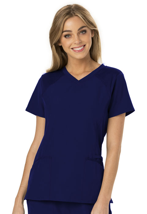 Break on Through Women's V-Neck Top Blue