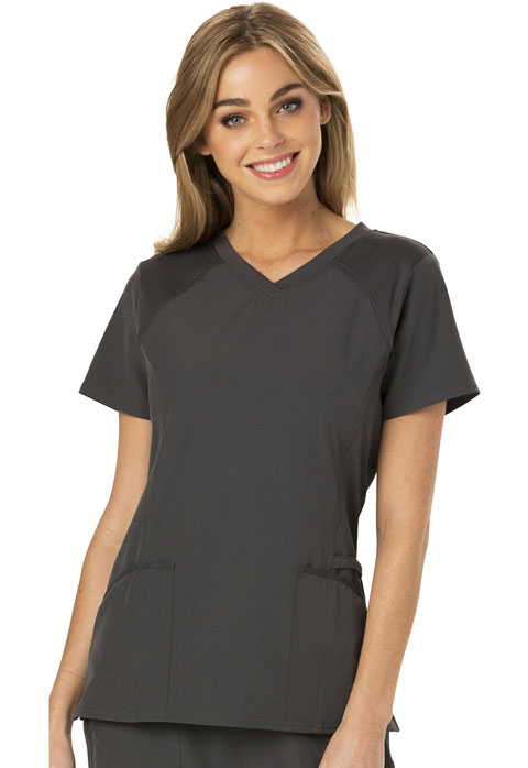 Break on Through Women's V-Neck Top Gray