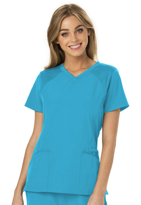 a301cb4a89d Break on Through V-Neck Top in Turquoise HS660-TURH from Cherokee Scrubs at Cherokee  4 Less