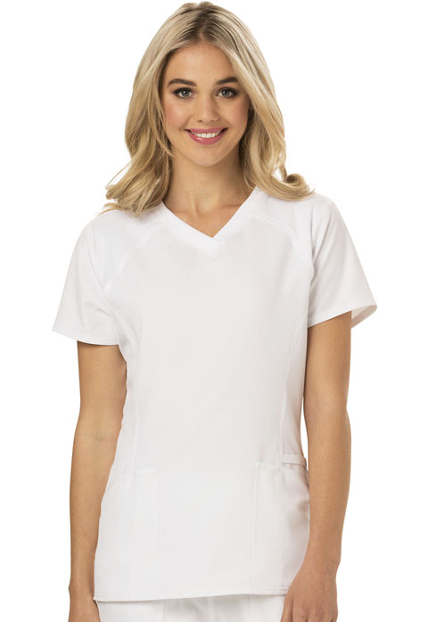 Break on Through Women's V-Neck Top White