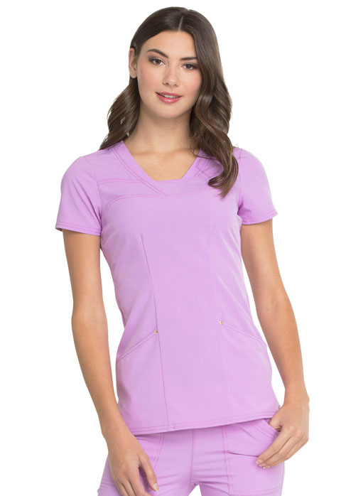 Love Always Women's V-Neck Top Purple