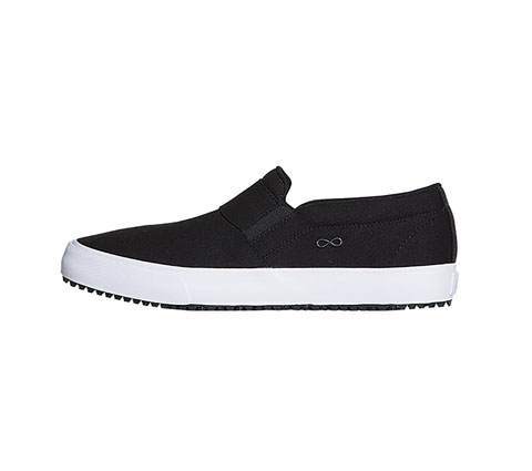 Infinity Footwear Shoes Men's MRUSH Black Canvas with White