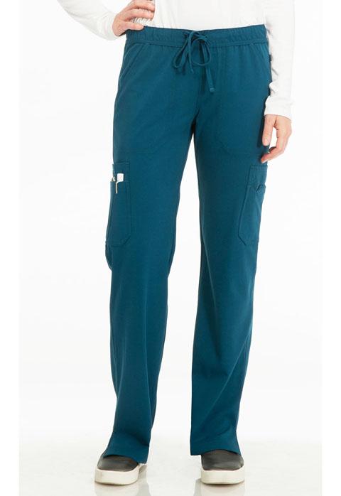 "Sapphire Sapphire Women's ""Vienna"" Mid Rise Straight Leg Pant Blue"