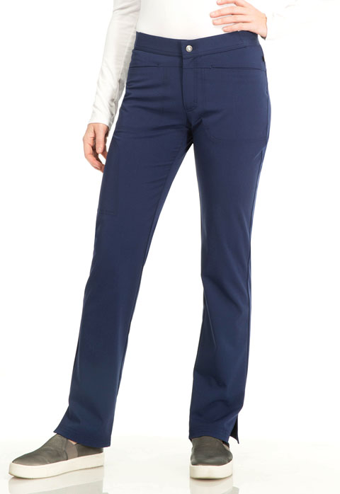 "Sapphire Sapphire Women's ""Roma"" Low Rise Zip Fly Slim Pant Blue"