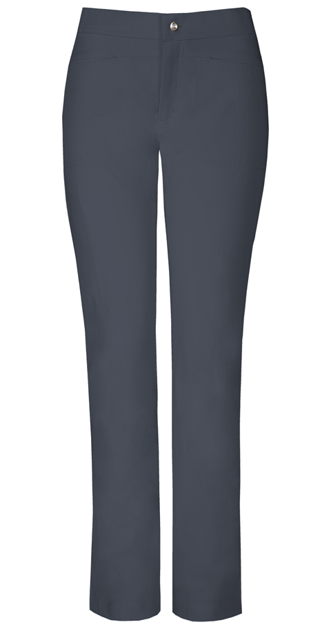 "Sapphire Sapphire Women's ""Roma"" Low Rise Zip Fly Slim Pant Gray"