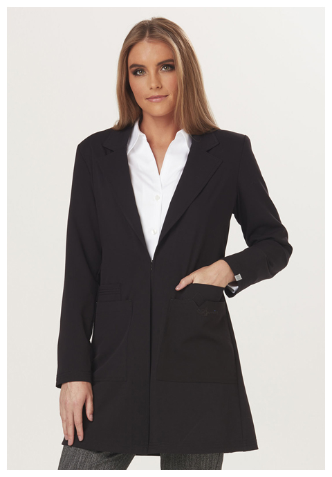 "Sapphire Sapphire Women's ""Milan"" 34"" Lab Coat Black"