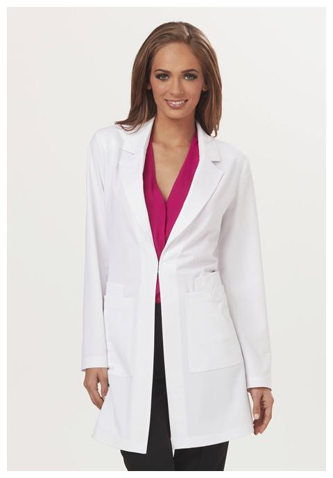 "Sapphire Sapphire Women's ""Milan"" 34"" Lab Coat White"