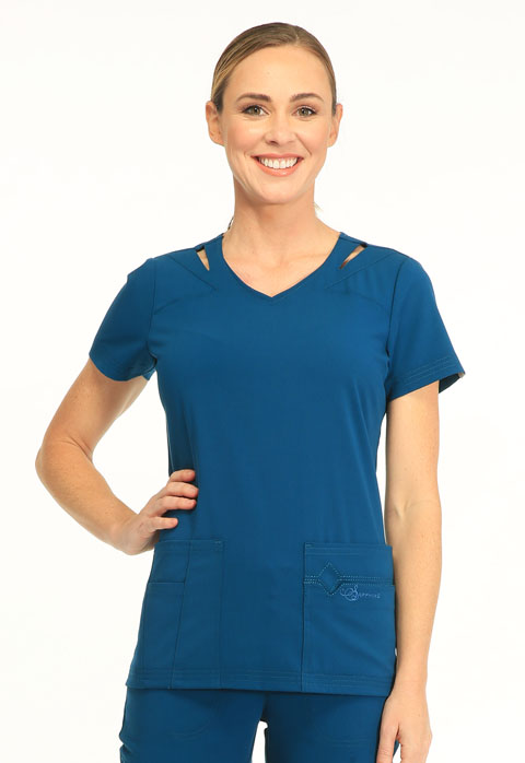 "Sapphire Sapphire Women's ""Paris"" V-Neck Top Blue"