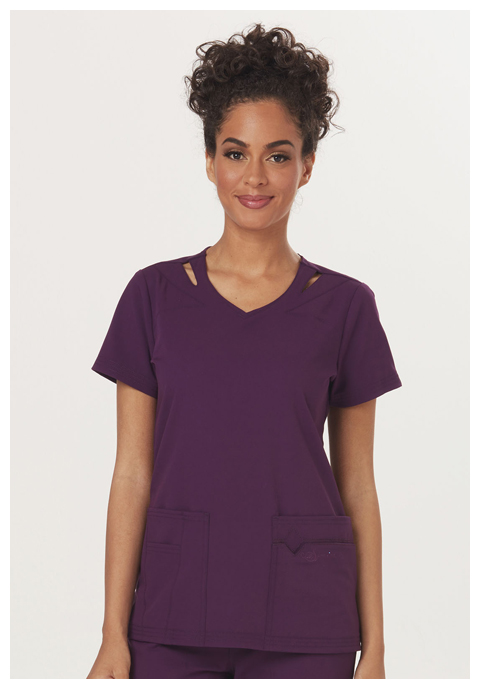"Sapphire Sapphire Women's ""Paris"" V-Neck Top Purple"