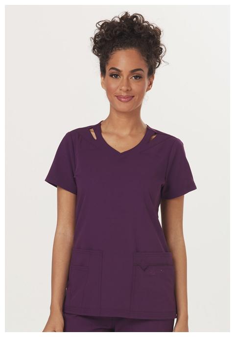Sapphire Women's Paris V-Neck Top Purple