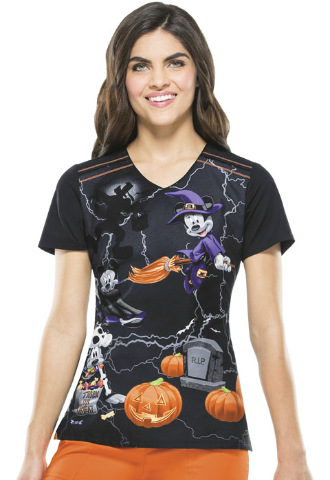 Licensed Prints Women V-Neck Top Witching Hour