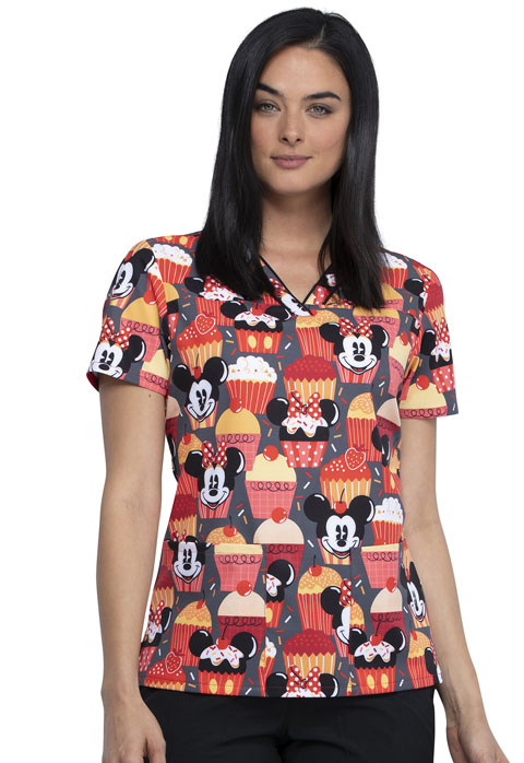 Licensed Prints Women's V-Neck Top Cute As A Cupcake