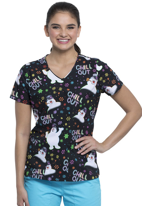Licensed Prints Women's V-Neck Top Chill Out