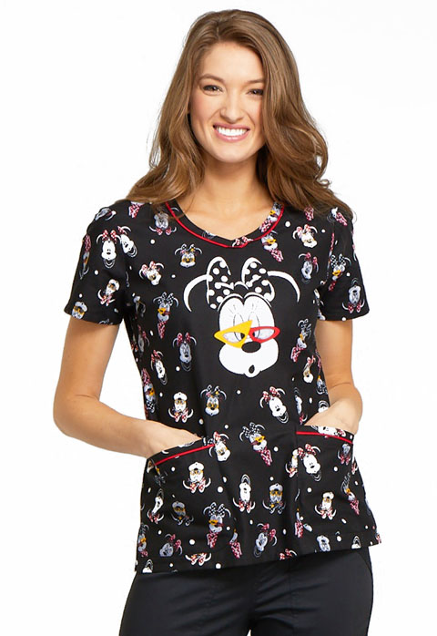Licensed Prints Women's V-Neck Top Beyond Cute