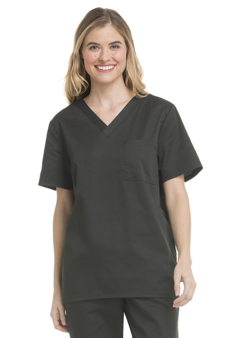 ScrubStar Canada Women V-Neck Top Gray