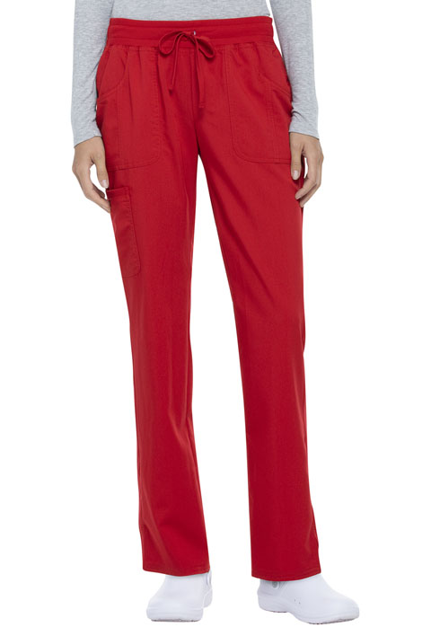 Walmart USA Premium Rayon Women's Women's Drawstring Pant Chili Red
