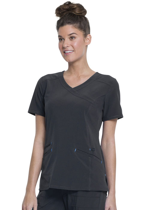 Walmart USA Performance Women's Women's Mock Wrap Top Gray