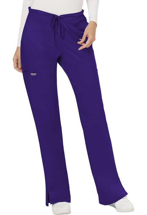 WW Revolution Women Mid Rise Moderate Flare Drawstring Pant Purple
