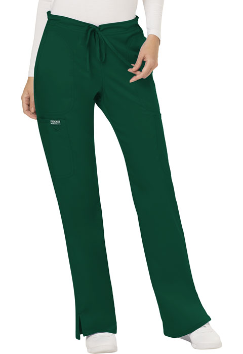 WW Revolution Women's Mid Rise Moderate Flare Drawstring Pant Green