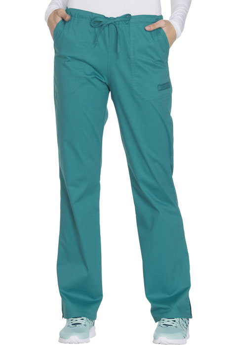 WW Core Stretch Women's Mid Rise Straight Leg Drawstring Pant Green