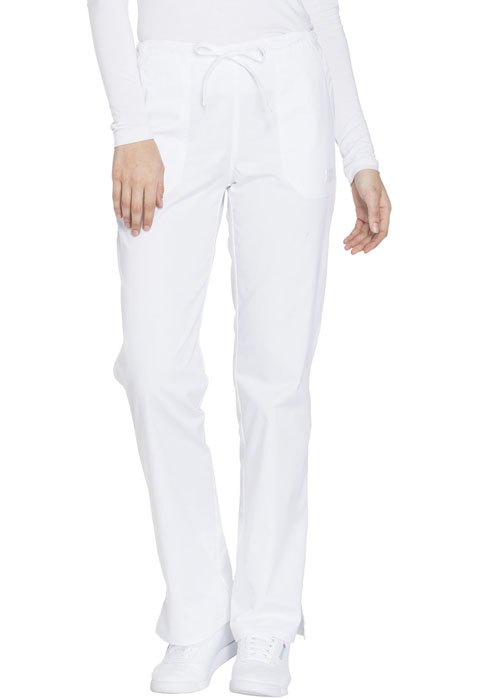 WW Core Stretch Women's Mid Rise Straight Leg Drawstring Pant White