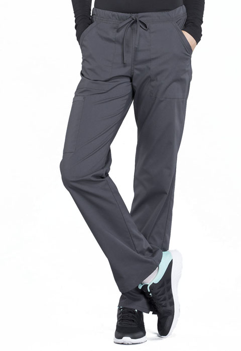 f717b5b518f WW Professionals Mid Rise Straight Leg Drawstring Pant in Pewter ...