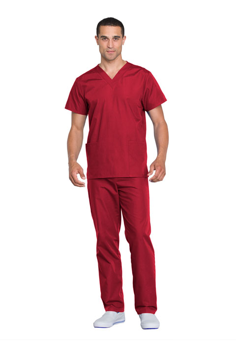 WW Originals Unisex Unisex Top and Pant Set Red