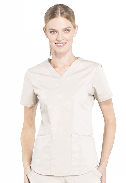 Workwear WW Professionals Women V-Neck Top Khaki