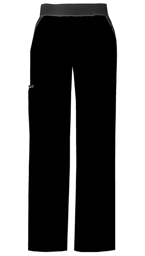 Flexibles Women's Mid Rise Knit Waist Pull-On Pant Black