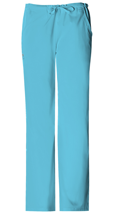 Cherokee Luxe Women's Low Rise Drawstring Pant Blue