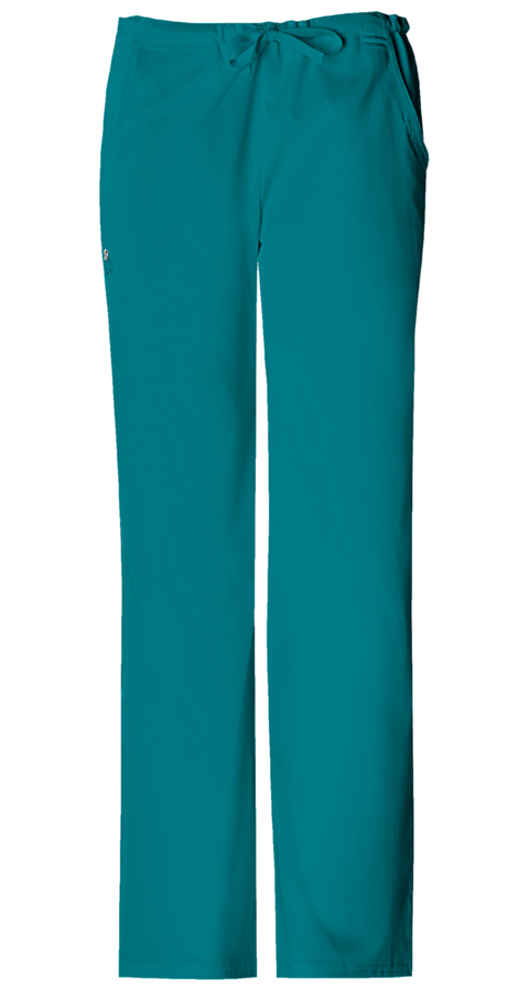 Cherokee Luxe Women's Low Rise Drawstring Pant Green