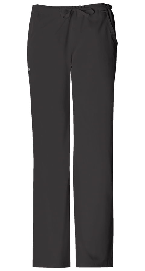 Cherokee Luxe Women's Low Rise Drawstring Pant Black