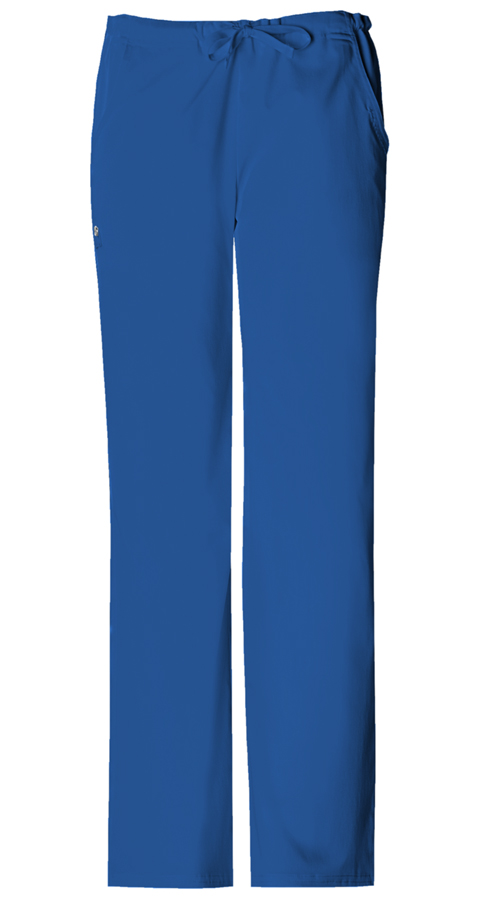 Luxe Women's Low-Rise Drawstring Pant Blue