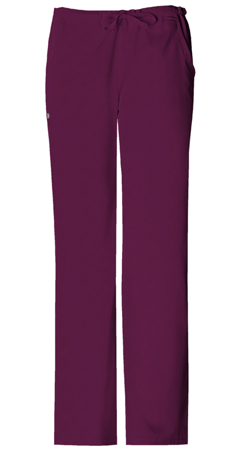 Luxe Women's Low Rise Drawstring Pant Red