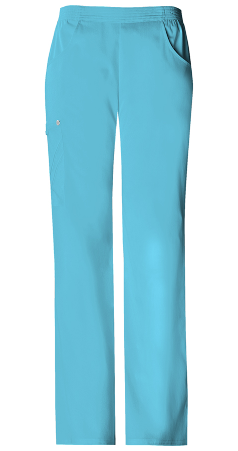 Cherokee Luxe Women's Mid-Rise Pull-On Cargo Pant Blue