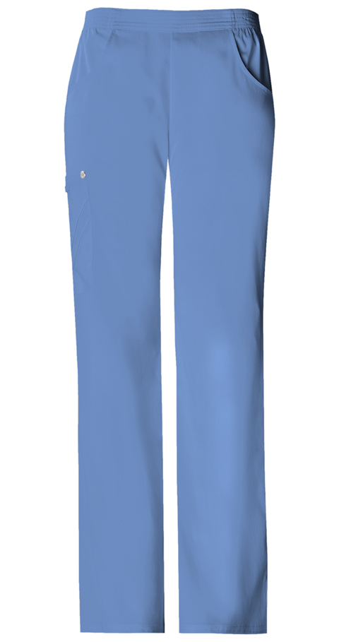 Luxe Women's Mid-Rise Pull-On Cargo Pant Blue