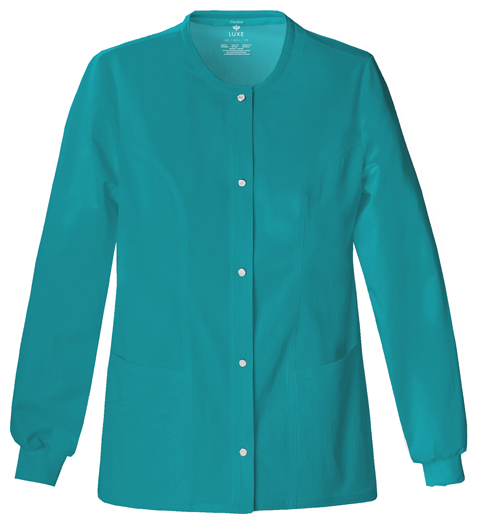 Luxe Women's Snap Front Warm-Up Jacket Green