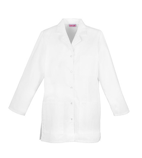 "Cherokee Cherokee Whites Women's 32"" Snap Front Lab Coat White"