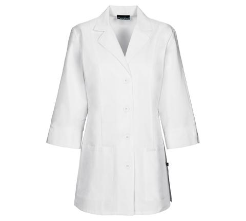 """Cherokee Cherokee Whites Women's 30"""" 3/4 Sleeve Lab Coat White"""