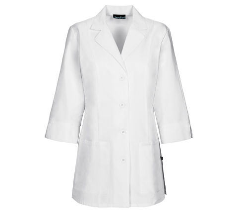 "Cherokee Whites Women's 30"" 3/4 Sleeve Lab Coat White"