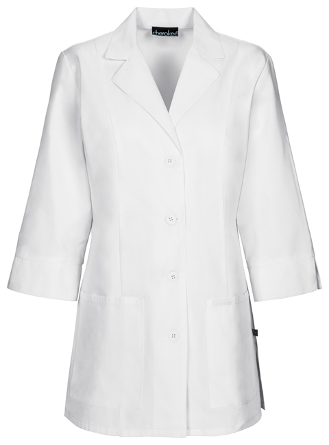 "Cherokee Cherokee Whites Women's 30"" 3/4 Sleeve Lab Coat White"