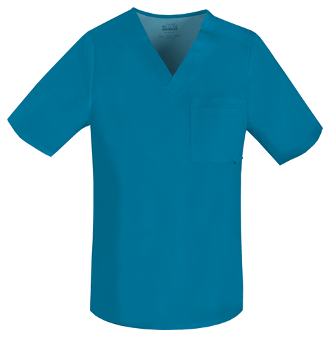 Cherokee Cherokee Luxe Men's Men's V-Neck Top Blue
