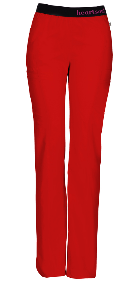 "HeartSoul Head Over Heels Women's ""So In Love"" Low Rise Pull-On Pant Red"