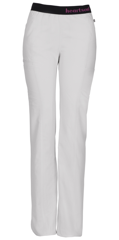 "HeartSoul HeartSoul Head Over Heels Women's ""So In Love"" Low Rise Pull-On Pant White"