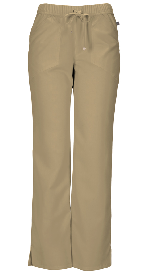 "HeartSoul HeartSoul Head Over Heels Women's ""Drawn To You"" Low Rise Drawstring Pant Khaki"