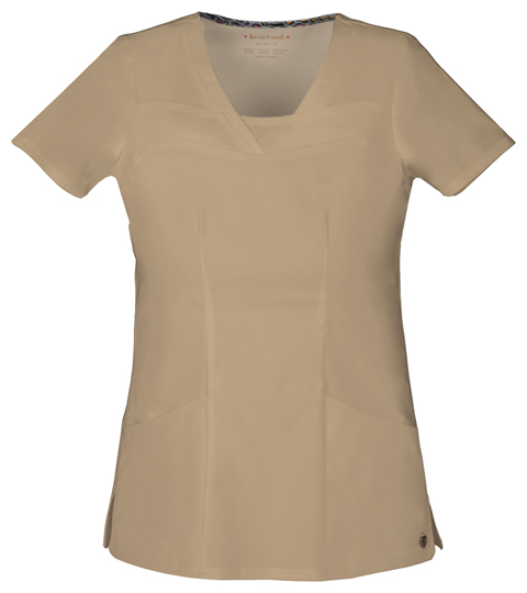 "HeartSoul HeartSoul Picture Perfect Women's ""Serenity"" V-Neck Top Khaki"