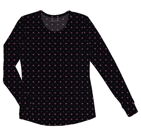 HeartSoul HeartSoul Underscrub Knit Tees Women's Long Sleeve Underscrub Knit Tee Black