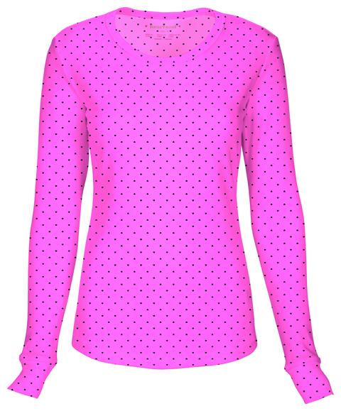 HeartSoul HeartSoul Underscrub Knit Tees Women's Long Sleeve Underscrub Knit Tee Pink