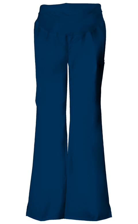 Cherokee Flexibles Women's Maternity Knit Waist Pull-On Pant Blue