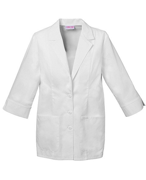 "Cherokee Cherokee Whites Women's 29"" 3/4 Sleeve Lab Coat White"